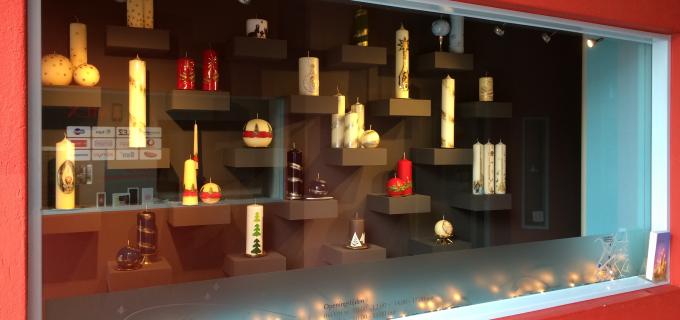 kerstetalage kaarsenfabriek Cobbenhagen Gulpen