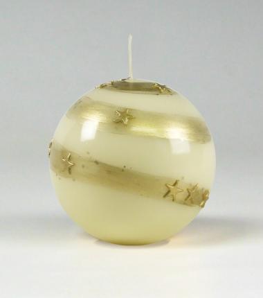 ivoor kerstkaarsen | Hoogglans kaarsen | kaarsen met sterretjes | Cobbenhagen kaarsen