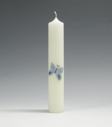 Geboortekaars, vlinder, blauw, Cobbenhagen kaarsen