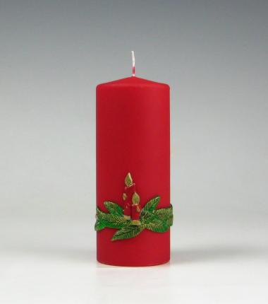 kaars, kerstkaars,rood,traditioneel, Cobbenhagen kaarsen