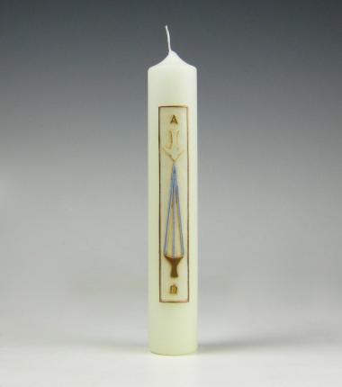 doopkaars, goud,doopvont, stralen,Cobbenhagen kaarsen