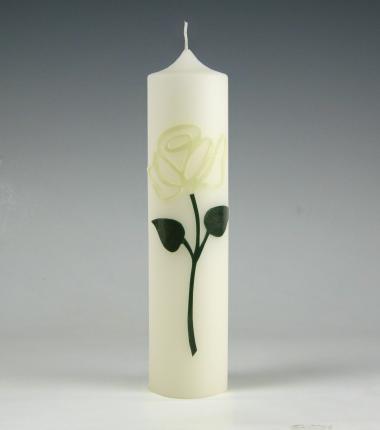 modern I roos I wit I kaars I cadeau I geschenk I kaarsenfabriek I