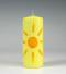 zon, geel , stompkaars, zomer, Cobbenhagen kaarsen