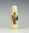 Communiekaars | kruis | rose | Cobbenhagen kaarsen