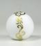 kerstkaars, wit, ornament, bolkaars, Cobbenhagen kaarsen