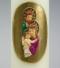 kerstkaars, religieuze kerstkaars, goud, Jozef, Maria, kindje