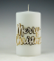 merry christmas|kerstkaars|luxe|stomp|kaarsenfabriek cobbenhagen