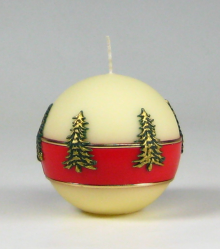 kerstboomkaars, kerstkaars, traditionele kerstkaars, Cobbenhagen kaarsen