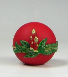 kaars, kerstkaars,rood,traditioneel,Cobbenhagen kaarsen