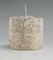 luxe I kerstkaars I merry christmas I kaarsenfabriek Cobbenhagen