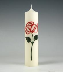 roos I rood I kaars I dankjewel I kaarsenfabriek I cadeau I was