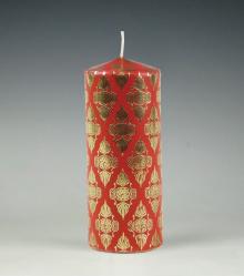 ruit| kaar| rood |goud| cobbenhagen kaarsen| kerst