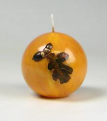 eikenblad kaars, herfst kaars, Cobbenhagen kaarsen