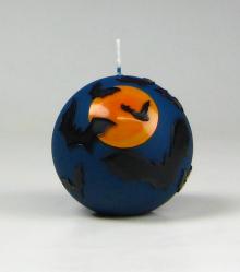 halloween kaars, vleermuis kaars, griezelkaars, Cobbenhagen kaarsen